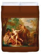 Pan And Syrinx Duvet Cover