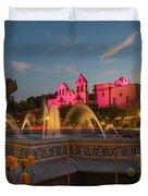 Panama Fountain Duvet Cover