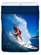 Pancho Makes The Wave Duvet Cover by Vince Cavataio - Printscapes