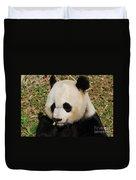 Panda Bear Eating Some Yummy Bamboo Shoots Duvet Cover