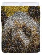 Panda Coin Mosaic Duvet Cover