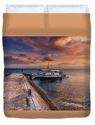 Pandanon Island Sunset Duvet Cover