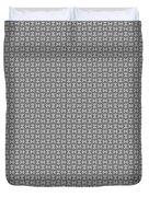 Pandora's Puzzle Greys Duvet Cover