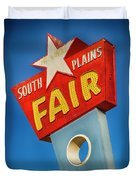 Panhandle South Plains Fair Sign Duvet Cover