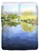 Panorama 2 Of Monets Garden In Giverny Duvet Cover