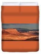 Panorama Dawn Light On The San Rafael Swell Utah Duvet Cover