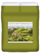 Panorama Drawn From The Rigi Mountain Duvet Cover
