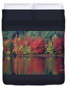 Panorama Fall Color Moccasin Lake Upper Peninsula Mi Duvet Cover