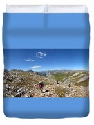 Panorama Looking Down Elk Creek From The Continental Divide - Weminuche Wilderness Duvet Cover