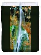 Panorama Lower Calf Creek Falls Escalante Nm Utah Duvet Cover