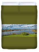 Panorama Of Gatineau, Quebec And Ottawa, Ontario Looking East On The Ottawa River Duvet Cover