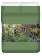 Panorama Of Gorman Falls At Colorado Bend State Park - Lampasas Texas Hill Country Duvet Cover