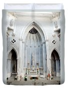 Panorama Of The Main Altar Of St. John The Evangalist Roman Catholic Church Schenectady Duvet Cover