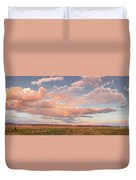 Panorama Of Twilight Clouds Over Tetilla Peak Recreation Area - Cochiti Lake New Mexico Duvet Cover