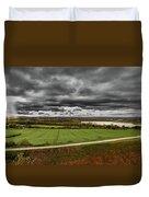 Panorama Of Wakefield's Fields Duvet Cover