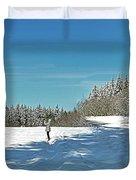Panorama Of Winter Park Duvet Cover
