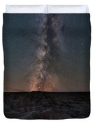 Panorama Point Milky Way Badlands  Duvet Cover