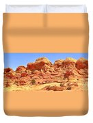 Panoramic Coyote Buttes Landscape Duvet Cover