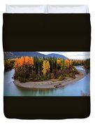 Panoramic Northern River Duvet Cover
