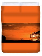 Panoramic Prairie Sunset Duvet Cover