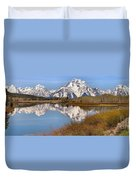 Panoramic Reflections At Oxbow Duvet Cover