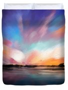 Panoramic Seascape Duvet Cover