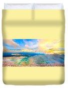 Panoramic Sunset On Mount Evans Duvet Cover