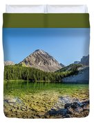 Panoramic View Of Chester Lake Duvet Cover