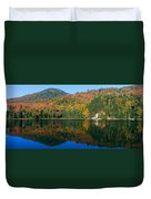 Panoramic View Of Crawford Notch State Duvet Cover