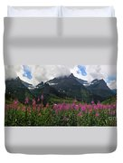Panoramic View Of 'going To Sun Road' Duvet Cover