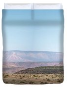 Panoramic View Of Open Desert Field In Nevada With Grand Canyon  Duvet Cover