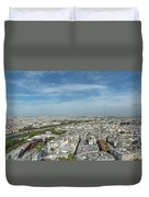 Panoramic View Of Paris From The Top Of The Tower Duvet Cover