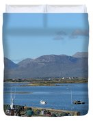 Panoramic View Roundstone Harbour Duvet Cover