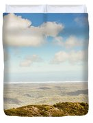 Panoramic Views From Mount Zeehan To Trial Harbour Duvet Cover