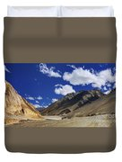Panrama Of Mountains Ladakh Jammu And Kashmir India Duvet Cover
