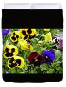 Pansies Of A Different Color Duvet Cover