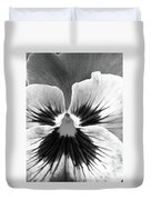 Pansy 06 Bw - Thoughts Of You Duvet Cover