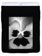 Pansy 09 Bw - Thoughts Of You Duvet Cover