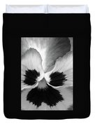 Pansy 10 Bw - Thoughts Of You Duvet Cover