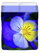 Pansy Close-up Square Duvet Cover