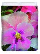 Pansy Flowers  Duvet Cover