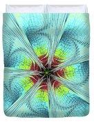 Pansy Fractal Duvet Cover