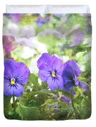 Pansy Impressions Duvet Cover