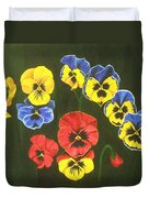 Pansy Lions Too Duvet Cover