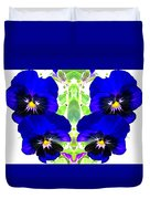 Pansy Pattern Duvet Cover