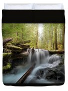 Panther Creek In Gifford Pinchot National Forest Duvet Cover