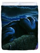 Panther On Rock Duvet Cover