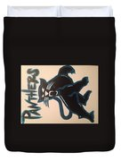 Panthers Nfl Logo Duvet Cover