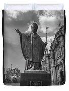 Papa Juan Pablo II - Mexico City Byn Duvet Cover