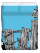 Paper Bird Duvet Cover by Andrew Hitchen